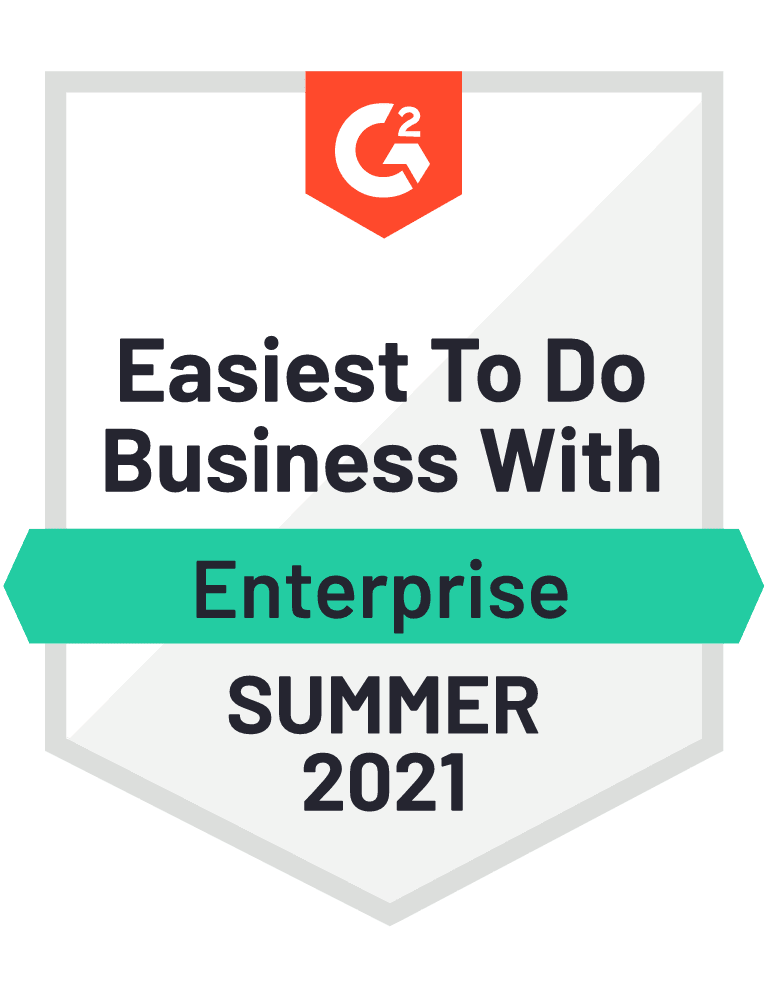 G2 easiest to do business with - summer '21